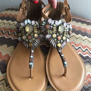 Cynthia Rowley Rhinestones Sandal